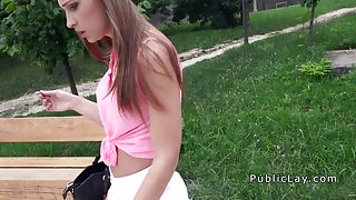 Perfect ass amateur bangs outdoors pov