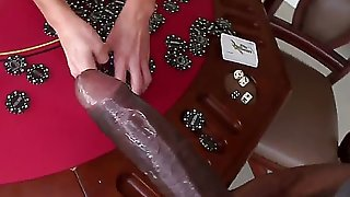 Hot MILF with huge tits comes to try something really special. We have prepared monster dick for her pink pussy. Oh my, she is quite surprised! Of course she would - its 16 inches long!